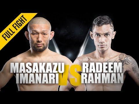 ONE: Full Fight   Masakazu Imanari Vs. Radeem Rahman   Grappling Clinic   October 2018