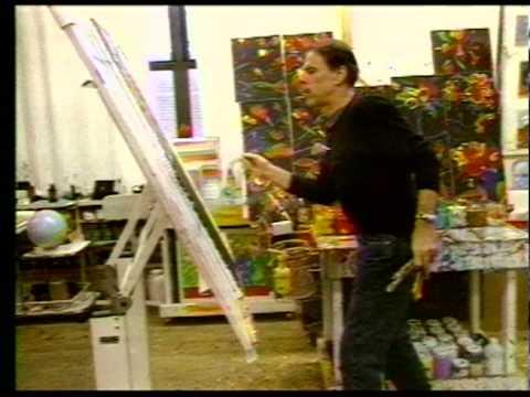 Peter Max in His Studio