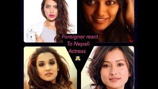 Foreigner React To Nepali Actress/priyanka karki/shristi Shrestha/reecha Sharma/NAMRATA Shrestha