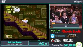 AGDQ 2015 - Sonic 3 & Knuckles speed run