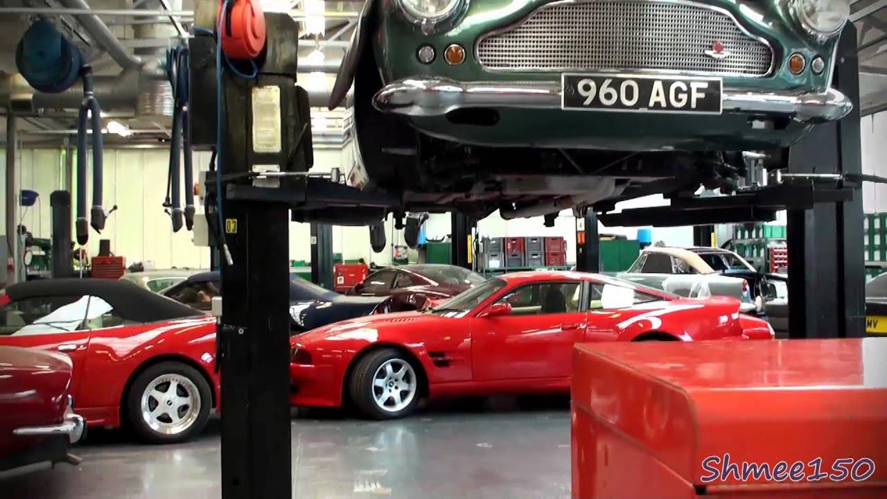 10+ Aston Martins! Bonhams Auction at Works Service | aston martin works service