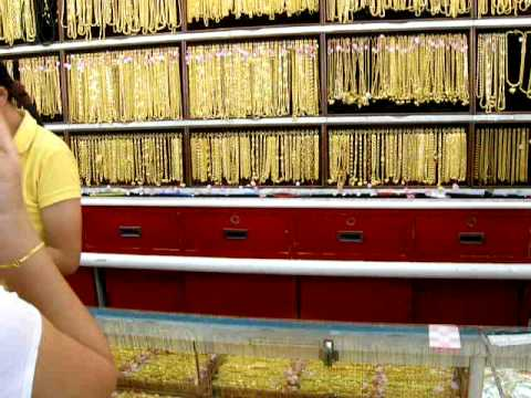 gold shop buying 23 ct gold jewellery in Chiang Mai Thailand YouTube