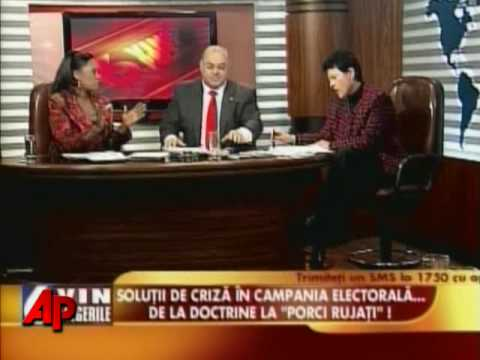 Insults, Water Hurled During Romania TV Debate