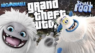 NEW Abominable MOVIE VS Smallfoot MOVIE MOD (GTA 5 PC Mods Gameplay)