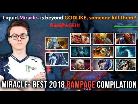 Miracle- BEST OF 2018 - Rampage Compilation - Dota 2