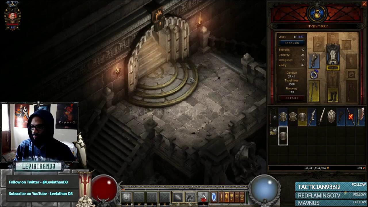 [Diablo 3] Darkening of Tristram | Level 1 Crusader - YouTube