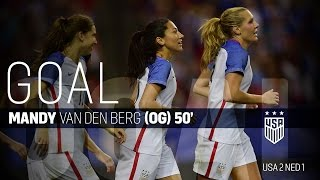 WNT vs. Netherlands: Mandy van den Berg Own Goal - Sept. 18, 2016