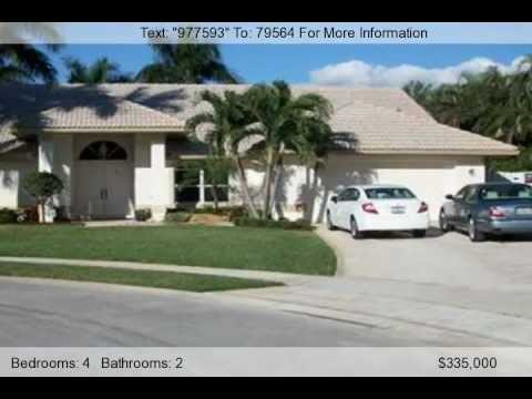 Palm Beach Homes Florida - Lakeview Estates 4 Bedroom Home For Sale