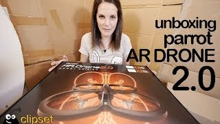 Parrot AR Drone 2.0 power unboxing review Videorama