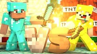 КТО СИЛЬНЕЕ ПРО ИЛИ НУБ В БЕДВАРС БЕЗ КРОВАТИ- Minecraft Bed Wars