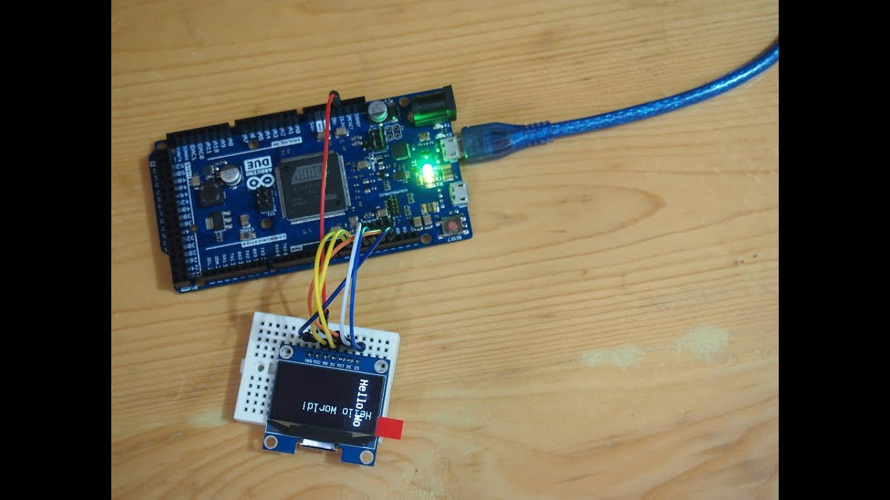 Hello world inch iic spi oled arduino using