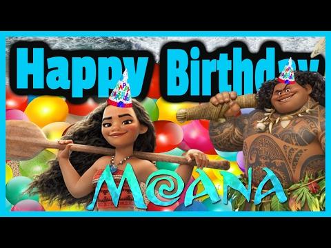 Hawaiian Happy Birthday | Princess Moana y  Maui  Disney Movie
