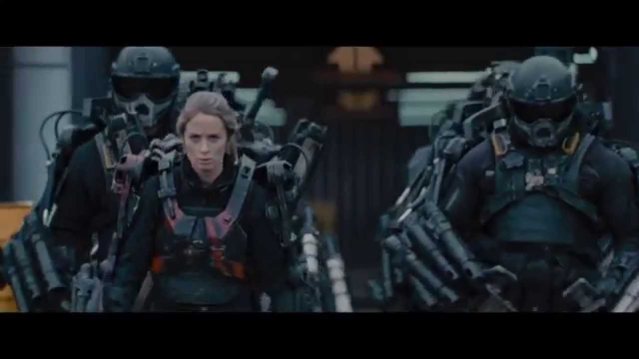 family members, In the Edge Of Tomorrow (2014), the random soldier who comes up to Emily is actually her brother.