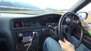 vuclip ドリフト INSANE OnBoard 1JZ-GTE Toyota Mark II JZX100 - Manji Drift & Clutch Kick!