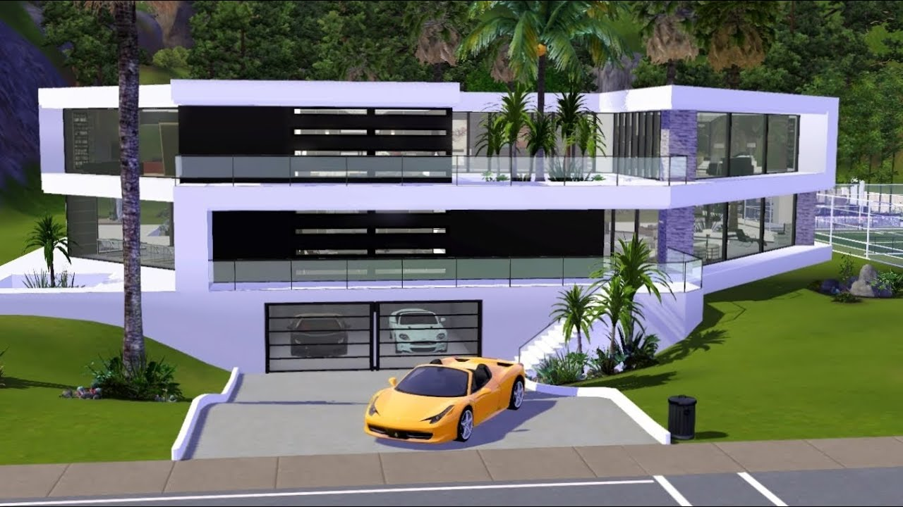 The Sims 3 Ultra Modern BW Mansion download link YouTube