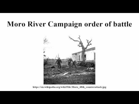 Moro River Campaign order of battle