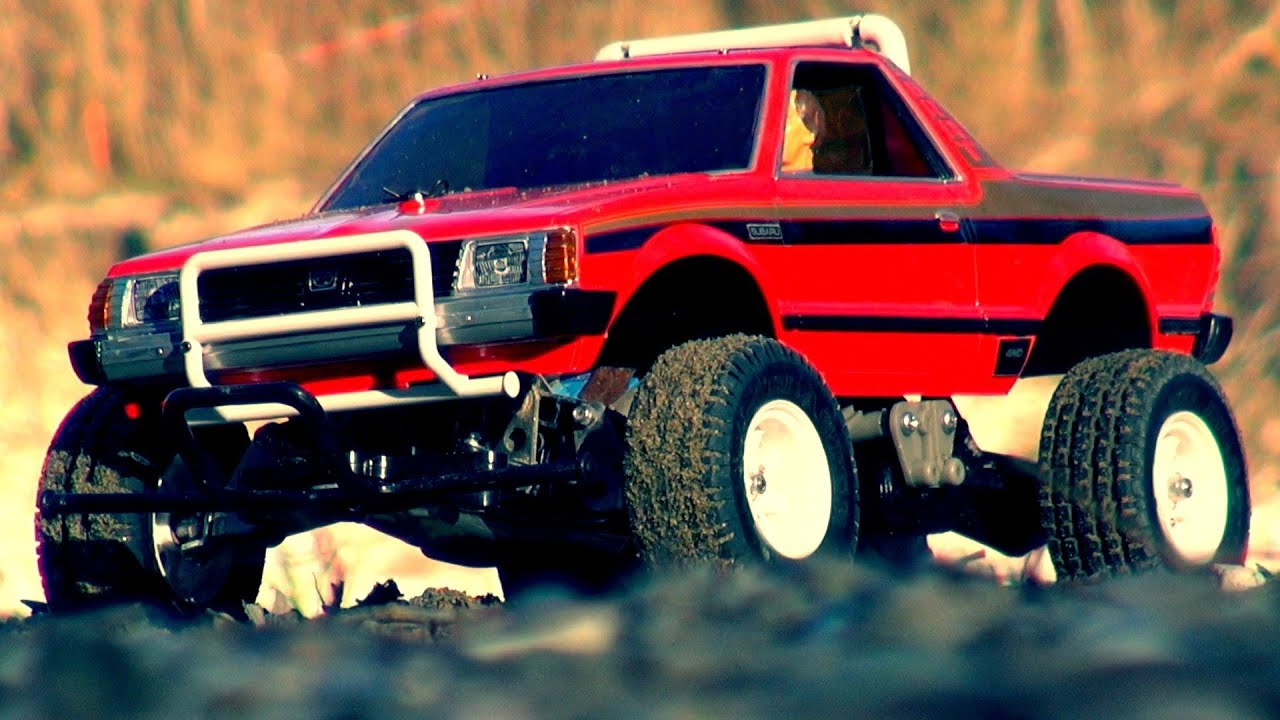 Tamiya Subaru Brat In Sand And Water Action Youtube