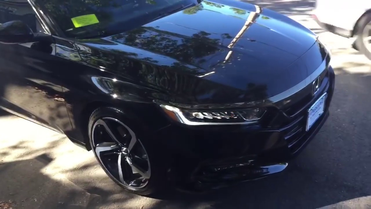 Honda Accord 2019 Black 2019 Honda Accord Sport 20t 4dr