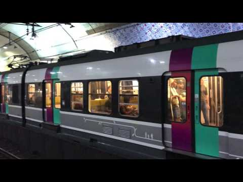 Arrival of train to Luxembourg station in Paris