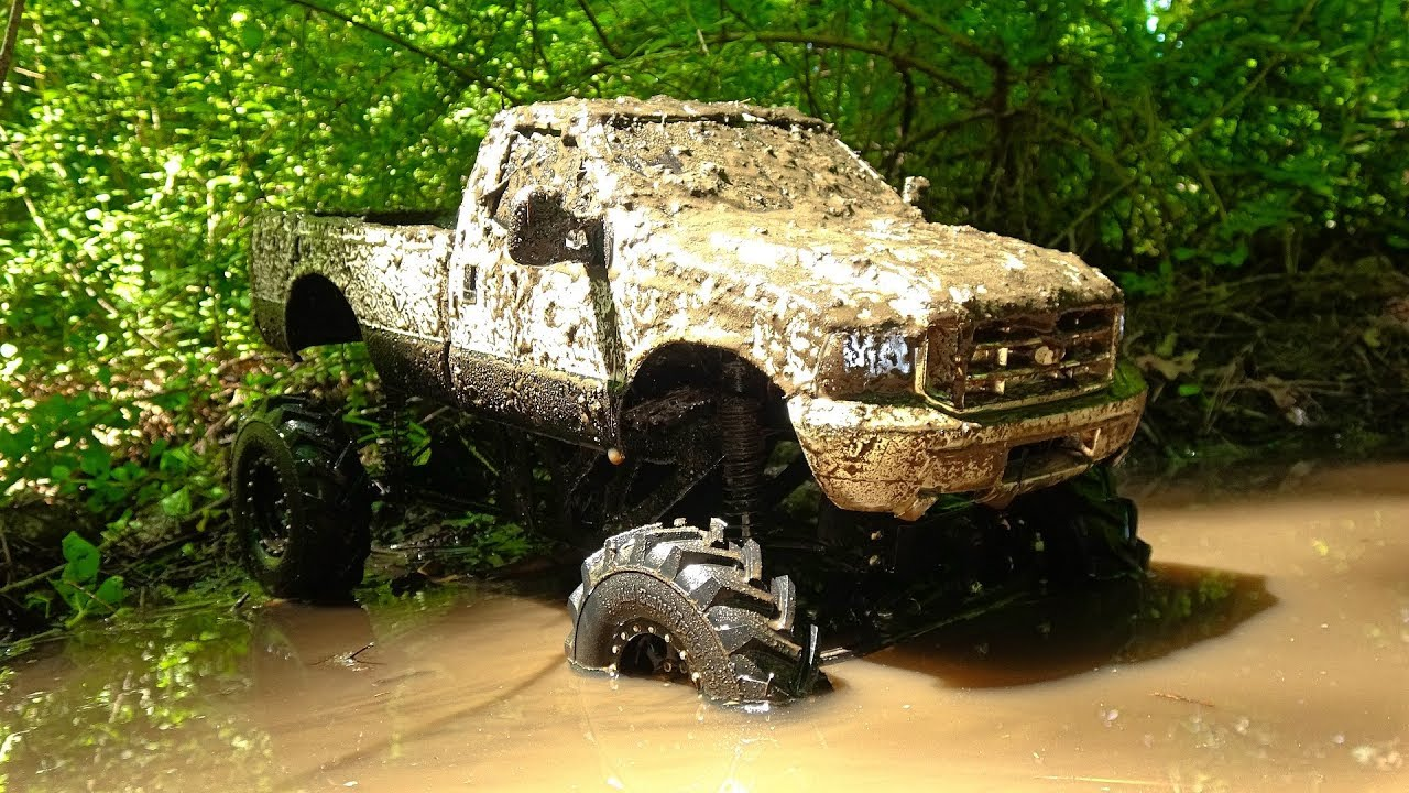 Rc Mudding 4x4 Mega Mud Truck Deep Bogging And Jumps Youtube