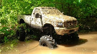 RC Mudding 4x4 Mega Mud Truck Deep Bogging And Jumps