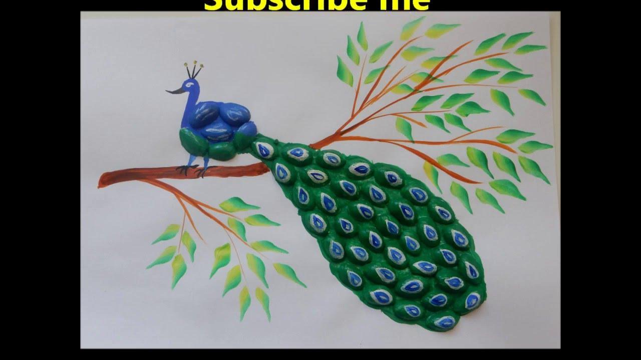 Pista Shell Art Peacock Youtube