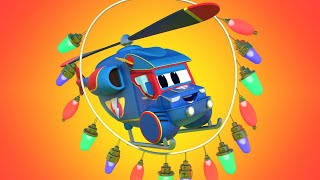 Truck videos for kids - Super HELICOPTER repairs the BLACK OUT - Super Truck !