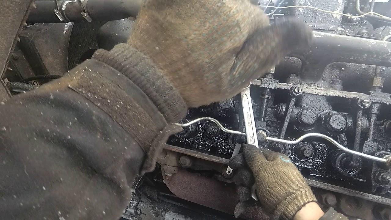 Регулировка клапанов ЯМЗ 238 старым шоферским методом ...