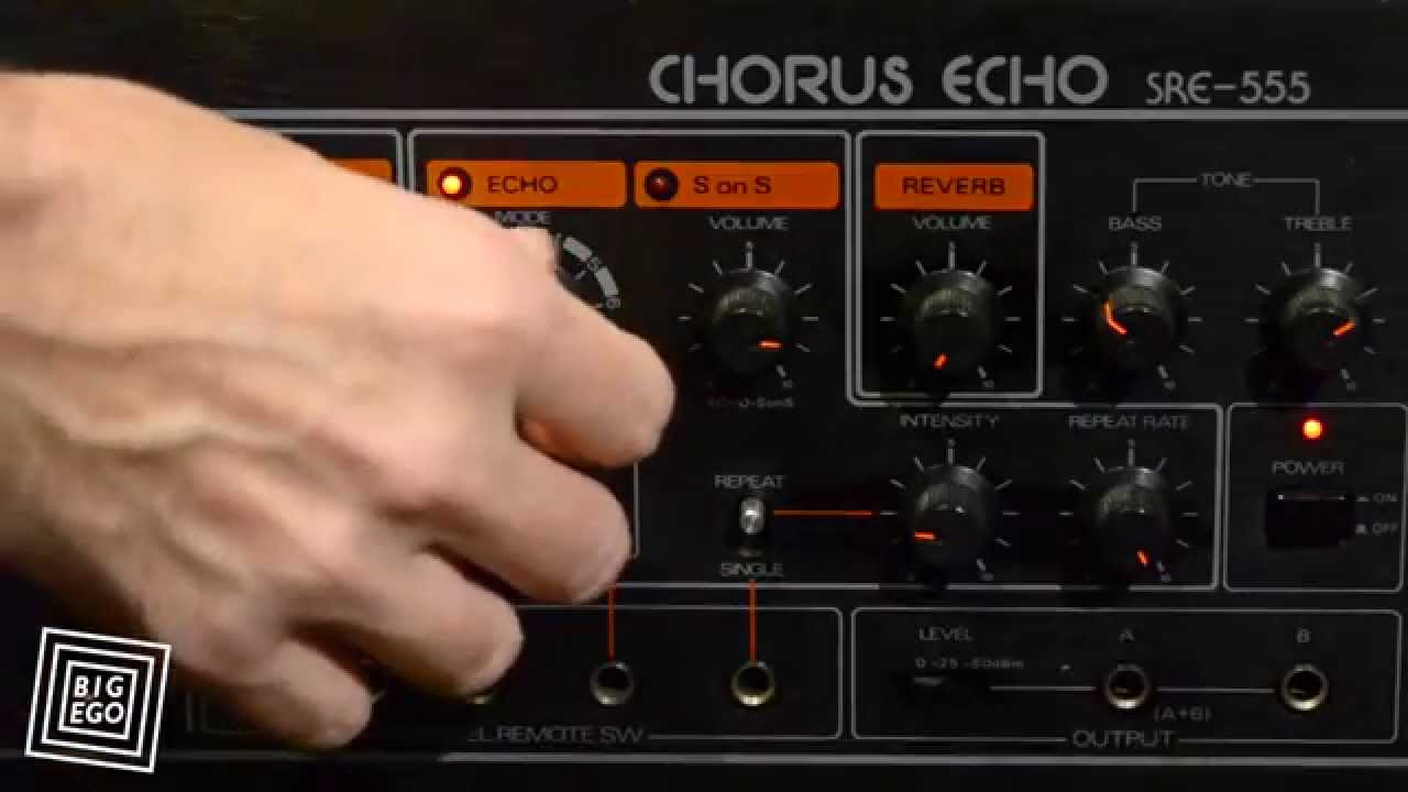Roland Chorus Echo Sre 555 501 Tape Delay Demo Youtube Timedelay Circuit With Watchdog Composed Of Audiocircuit