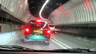 Driving through the famous Tyne Tunnel, North East England, United Kingdom !