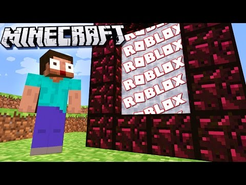 IF THERE WAS A ROBLOX DIMENSION In Minecraft!