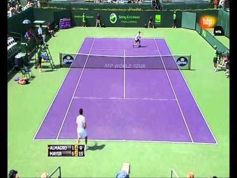 Nico Almagro: super passing backhand-crosses!