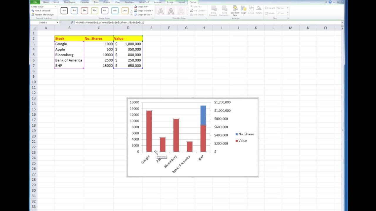 How to create a secondary axis in excel 200720102013 charts youtube ccuart Choice Image