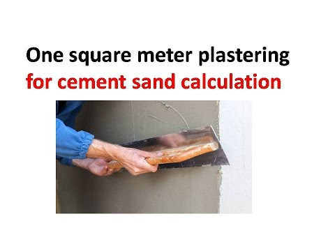 one square meter plastering for cement sand calculation