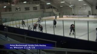 Acton Boxborough Girls Ice Hockey vs Weston 1/18/16