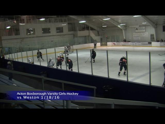 Acton Boxborough Girls Ice Hockey vs Weston 1/18/16