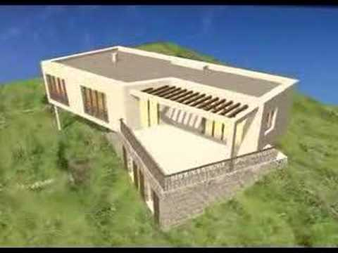 architecte en corse villa moderne projet d 39 architecture contemporaine 3d image de synth se. Black Bedroom Furniture Sets. Home Design Ideas