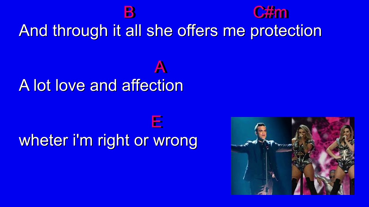 Robbie Williams - Angel (Chords and Lyrics) - YouTube