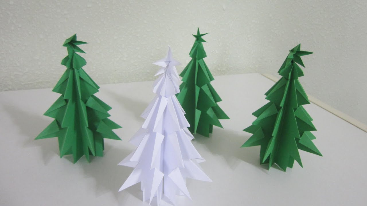Papercraft TUTORIAL -  Papercraft Christmas Tree