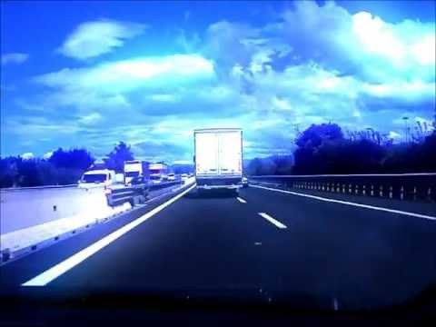 Driving Alps Road Trip Dashboard (x8 time-lapse)