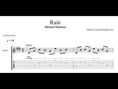 Michael Mucklow - Rain TAB - relaxing acoustic fingerpicking guitar tab - PDF - Guitar Pro