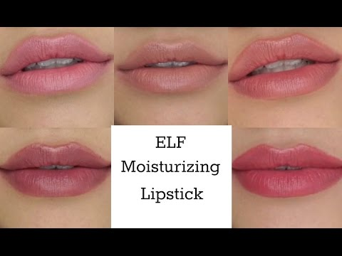 ELF Moisturizing Lipstick Swatches
