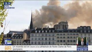 Un incendie est en cours à la cathédrale de Notre-Dame de Paris