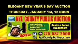 New Years Public Auction At 12 Noon At Nye County Public Auction, Pahrump Nv