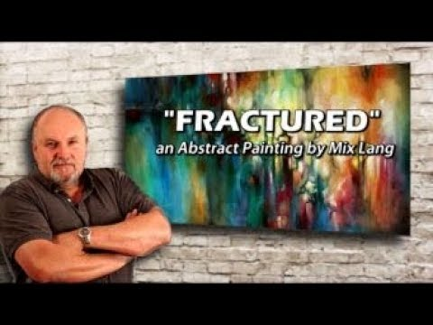 Mix Lang Abstract Painting, Color Application, Blending & Placement,