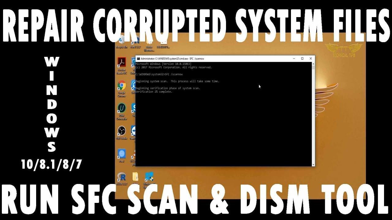 How to Repair Corrupted Windows System Files by System File Checker Scan in  Windows 7, 8, 8 1 and 10