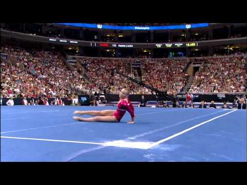 Bridget Sloan - Floor Exercise - 2008 Olympic Trials - Day 2