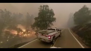 360 video shows Carr Fire approaching Igo, California on July 28