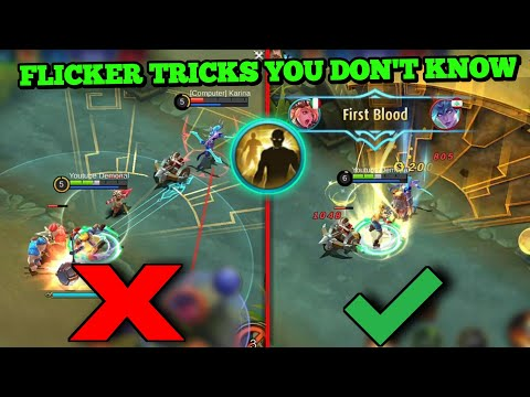 SOME FLICKER TRICKS THAT PROBABLY YOU DIDN'T KNOW | MOBILE LEGENDS