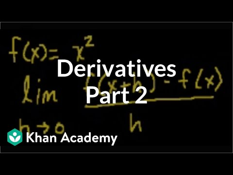 Calculus: Derivatives 2 | Taking derivatives | Differential Calculus | Khan Academy
